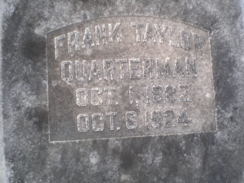 Frank Taylor Quarterman Oct. 1, 1882 Oct. 6, 1924